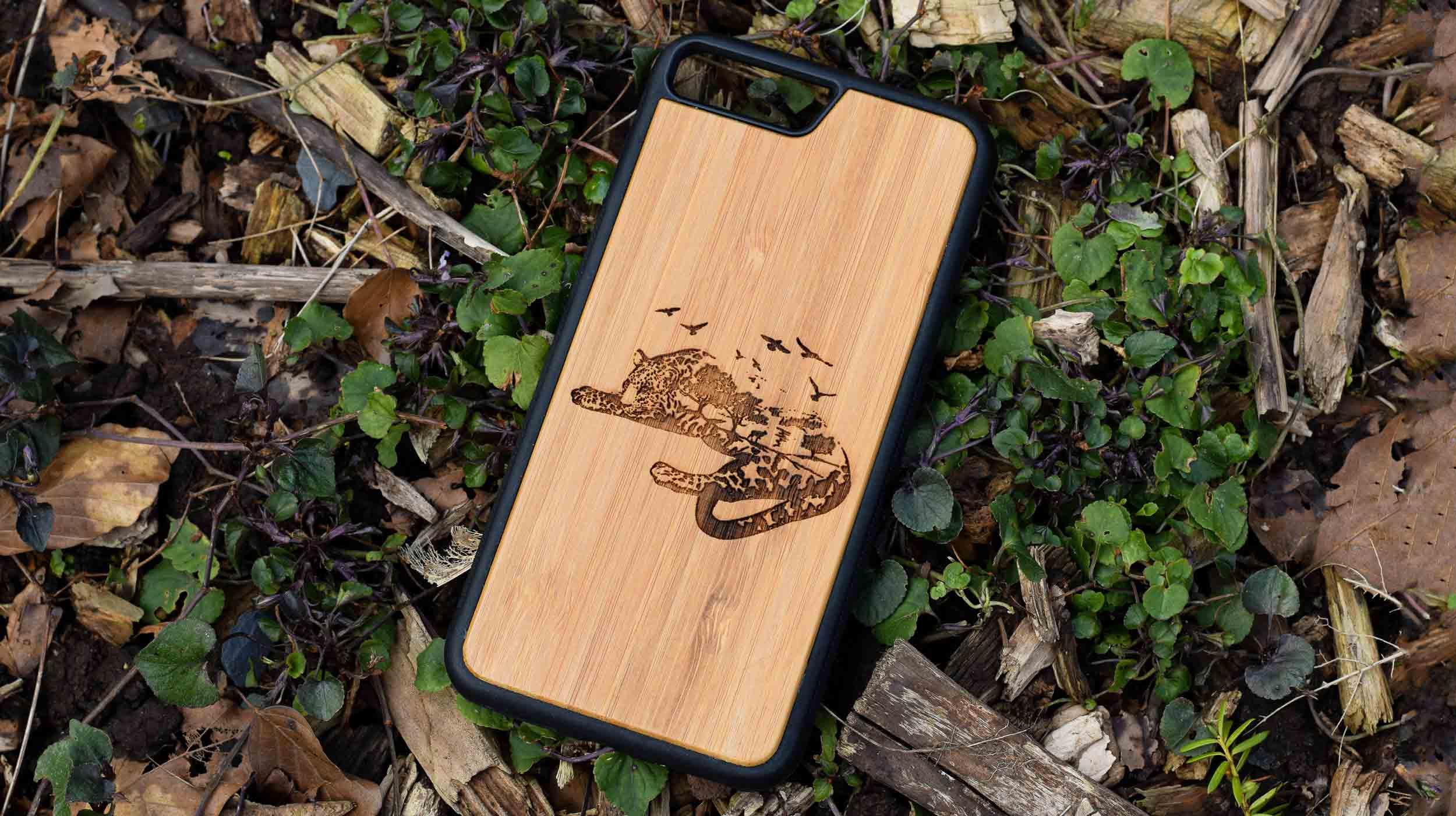 coque gravure leopard bois apdran 2021