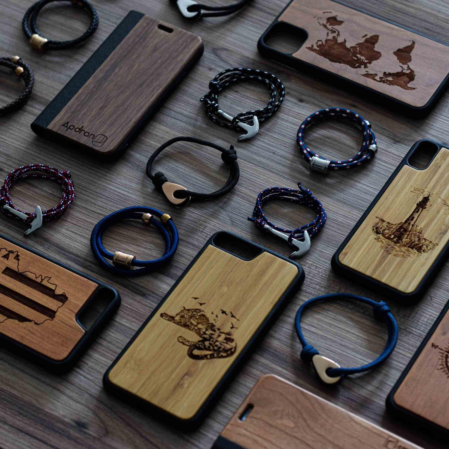 collection bracelet coques bois apdran